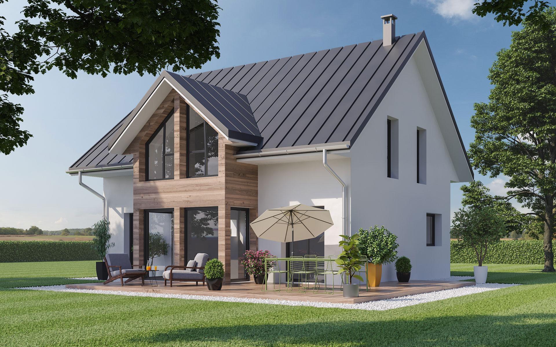 Maison individuelle ossature bois Tilleul par Olry Bois - modèle 3D