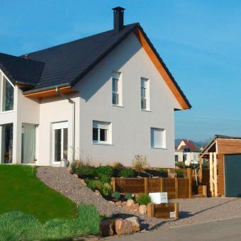 """Construction d'une maison bois """"Tilleul"""" à Walbach dans la vallée de Munster"""