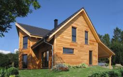"""Construction du modèle de maison bois """"Ebene"""" en Alsace"""